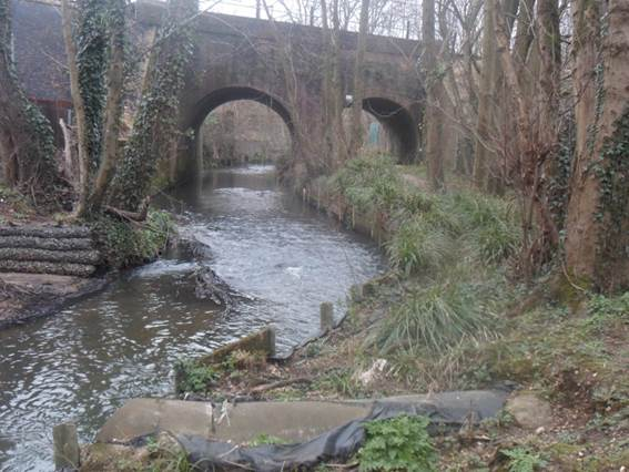 Monks Brook, a bridge over the river